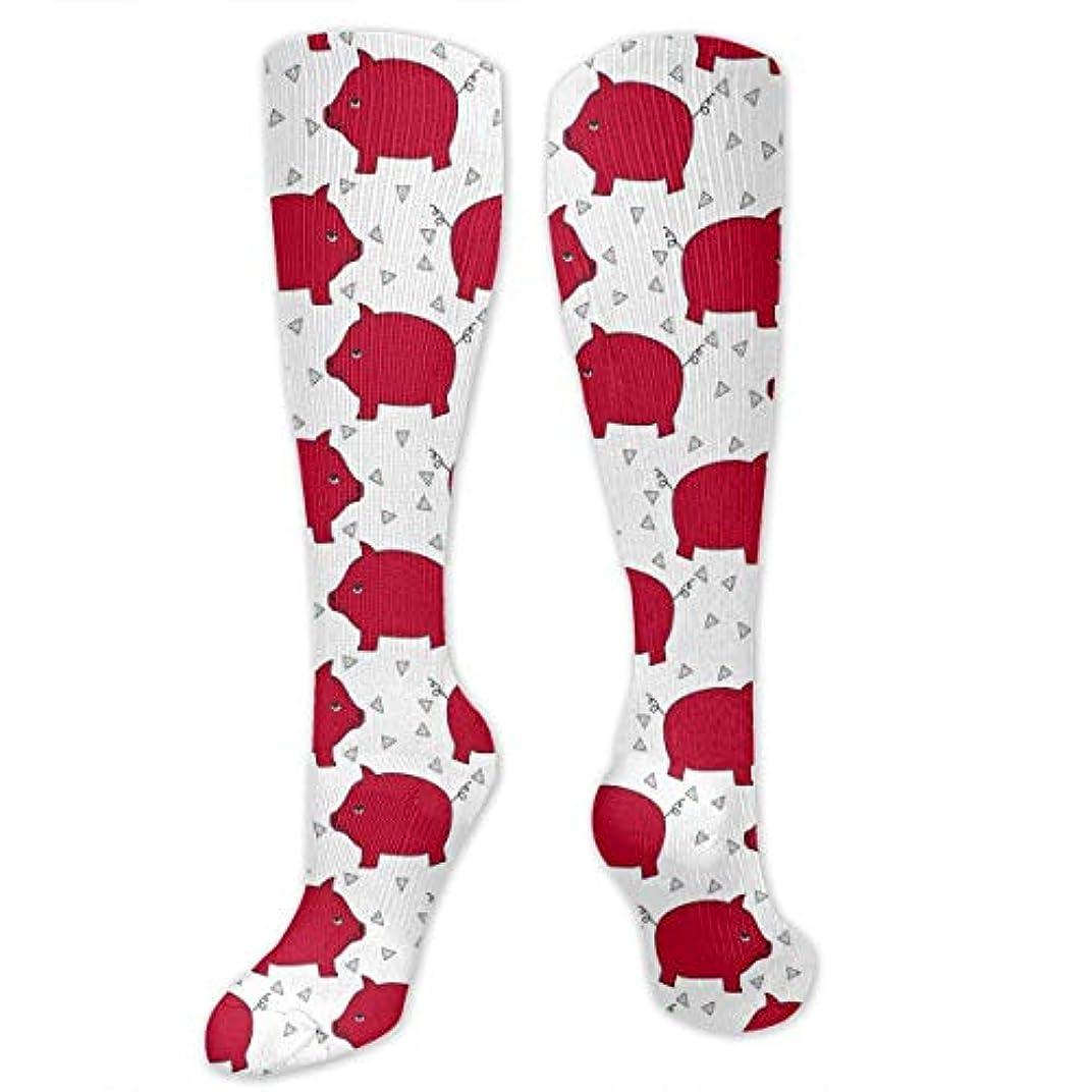麦芽ラフレシアアルノルディ持っている靴下,ストッキング,野生のジョーカー,実際,秋の本質,冬必須,サマーウェア&RBXAA Red Pig Piggy Bank Socks Women's Winter Cotton Long Tube Socks Knee...