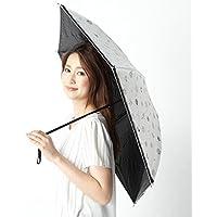 ランバン オン ブルー(雑貨)(LANVIN en Bleu) 【雨の日OK/遮光率&UV遮蔽率99%/遮熱効果】プリント&チュールフリル折りたたみ日傘