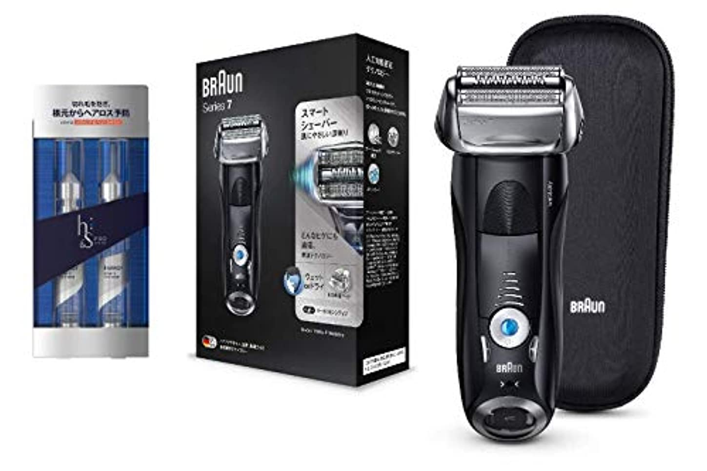 スキーム眉電気的ブラウン メンズ電気シェーバー シリーズ7 7842s-P h&s for men 洗い流さないトリートメント PRO Series エナジー スカルプ&ヘアショットセット