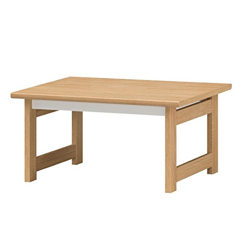 白井産業 ナチュラル×ホワイトのツートンカラーがお洒落なテーブル GAR-7550T