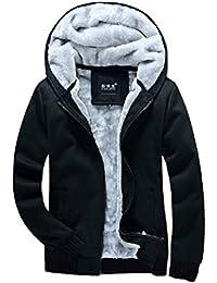 Spinas(スピナス) メンズ  冬 ジャケット  ジャンパー スウェット 中ボア アウター カジュアル ストリート系 お兄系 ブラック レッド (M, ブラック)