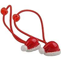 Dovewill ププラスチック ヘアバンド ヘアゴム 女の子 クリスマス サンタ帽子 バンド 髪飾り 2個