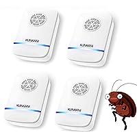 超音波 害虫駆除器 ネズミ 駆除機 コンセント式 害虫対策 虫 アリ 鼠 ゴキブリ 蛾 蚊 蜘蛛 駆除 害虫退治 100-150㎡有効範囲 無毒 安心 4個セット