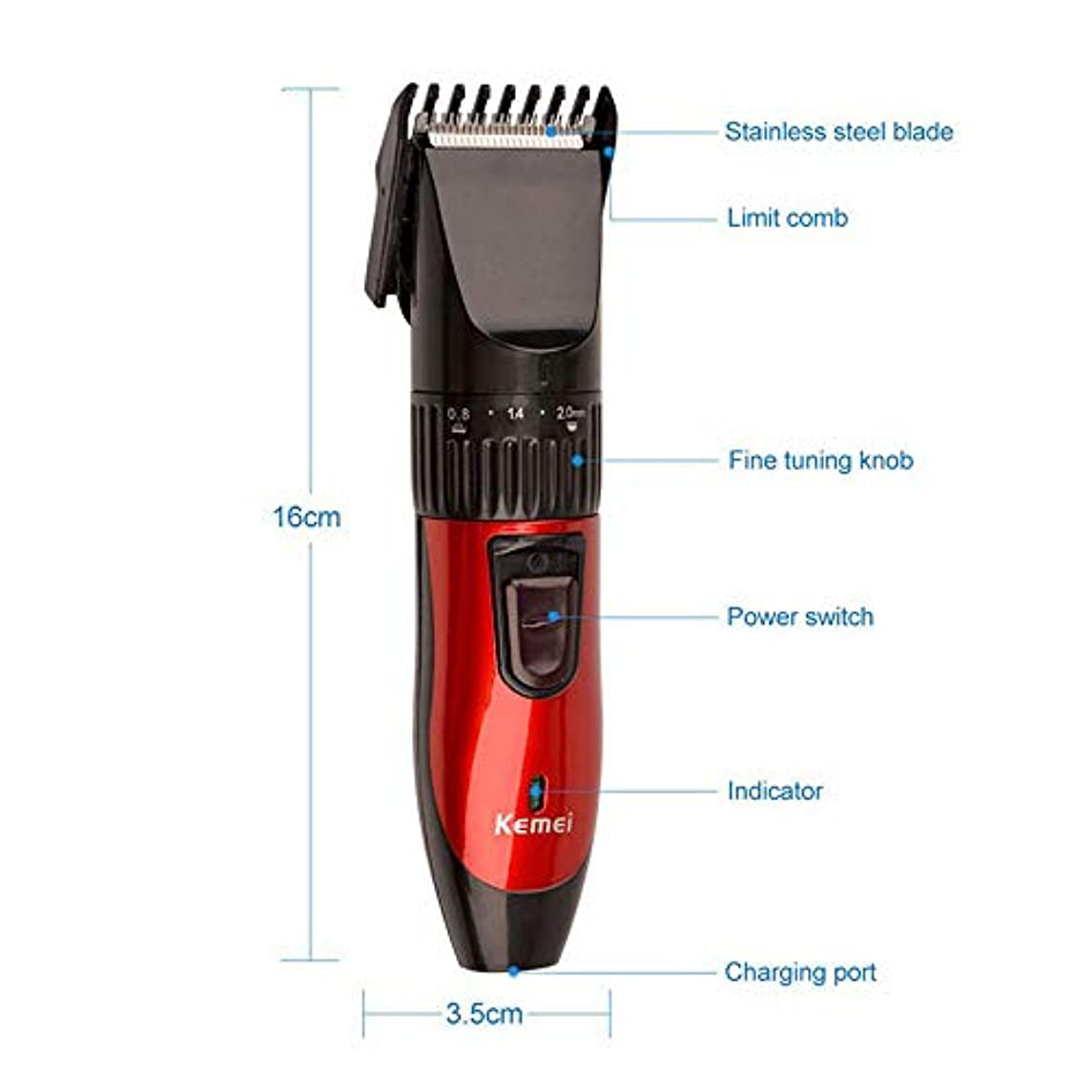 不調和ブレイズヒント男性の電子はさみアジャスタブルバリカントリマーキット理容美容のための機械散髪をカットプロのヘア