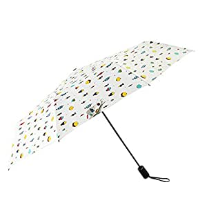 Onami ワンタッチ自動開閉 折りたたみ傘 レディース 頑丈な10本骨 高密度PG布 UVカット 外線遮蔽率99% 晴雨兼用 梅雨対策 耐強風 撥水性 日傘 おしゃれ 収納ポーチ付き (魚)