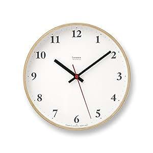 Lemnos Plywood clock 電波時計 ナチュラル LC10-21W NT