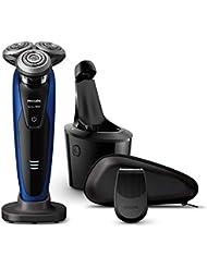 [2018年モデル] フィリップス 9000シリーズ メンズ 電気シェーバー 72枚刃 回転式 お風呂剃り & 丸洗い可 トリマー?洗浄充電器付 S9186A/26