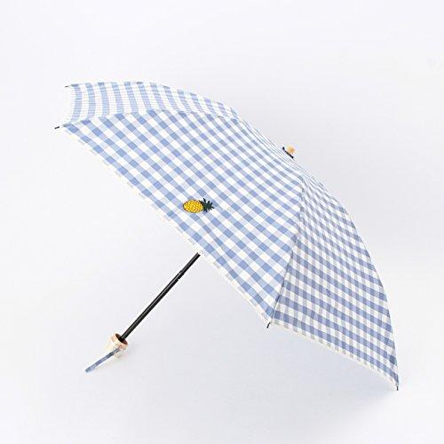 (オペーク ドット クリップ)OPAQUE.CLIP ギンガムチェック晴雨兼用折り畳み傘 ライトブルー(091) 00