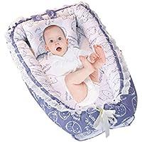 新生児バイオニックベッド折りたたみ式リュックサックベッドベビープレイベッドポータブル旅行ベッド多機能ベビーベッド (Color : Blue, Size : 55 * 90 * 15cm)