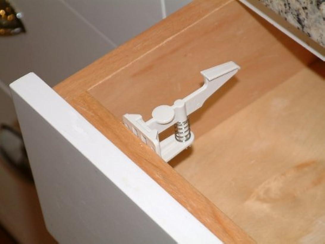 予測合計辞書Safety Drawer and Cabinet Latch in White (4 pack) by Cardinal Gates [並行輸入品]