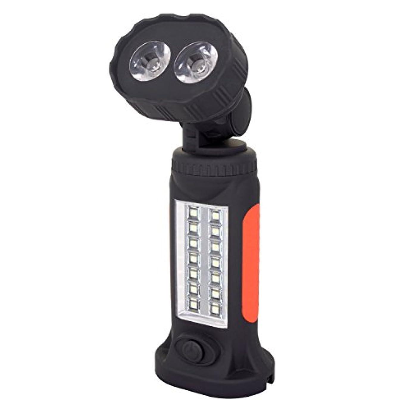焦がす落花生音Wolfteeth WL7284ハンズフリーCOB LEDトーチガレージ懐中電灯、調整スタンド、吊り下げフック、マグネットベース