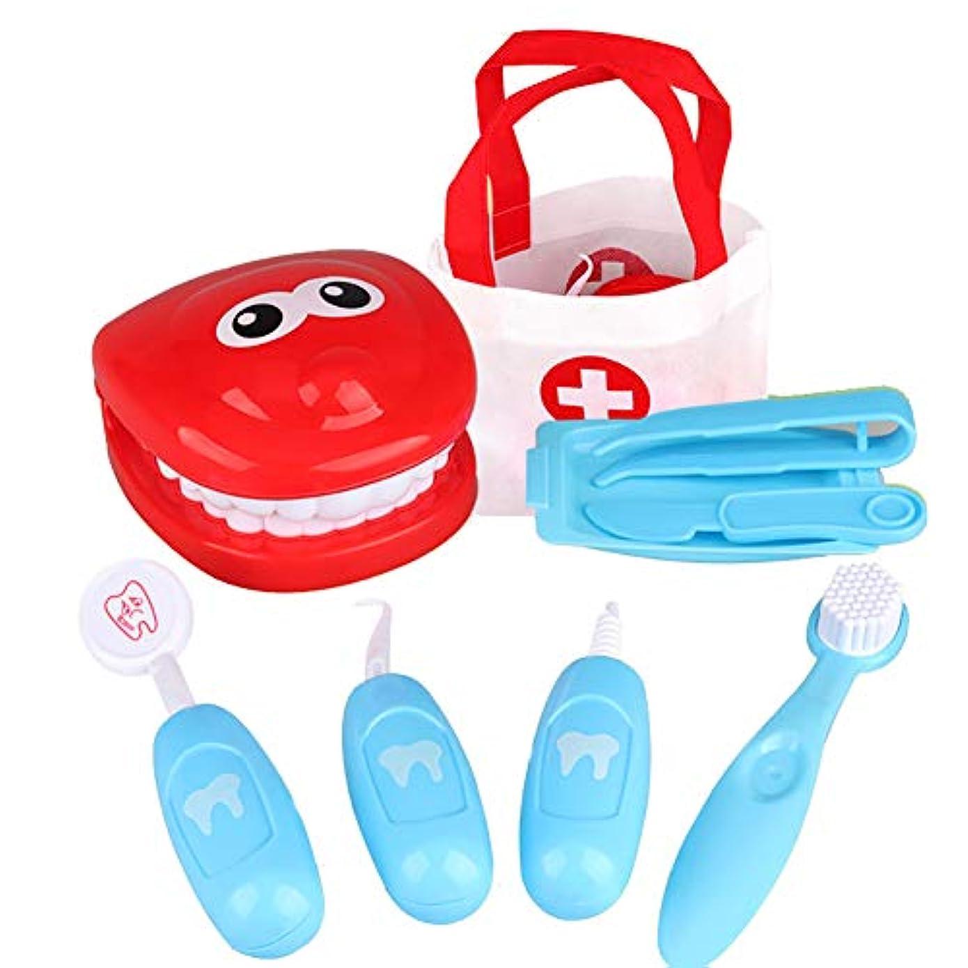 世界記録のギネスブック大工抵抗力があるSnner 医師SetEducational子供のおもちゃのギフト(青)1セットおかしい歯科医バービーのおもちゃロールプレイングおもちゃ