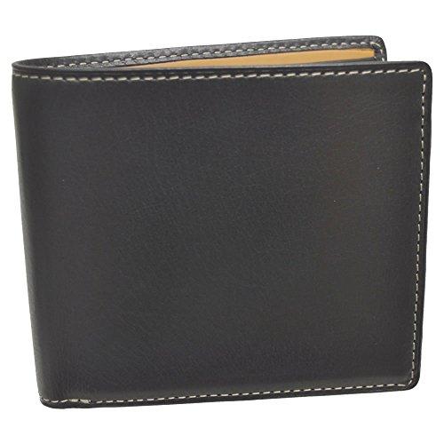 [ピーアイディー] P.I.D 財布 メンズ 二つ折り 牛革 ブランド レザー ウォレット 人気 革 二つ折 ラシオ 25284 ブラック(10)