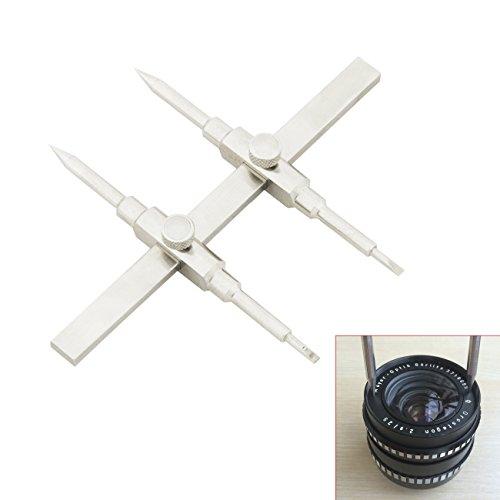 TARION ステンレス製 カニ目 井字型スパナレンチ カメラレンズレペア工具 シルバー (10mm~130mm)