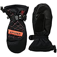 スパイダー Spyder Glove Black/Burst Overweb Ski Mitten (Big Kids) [並行輸入品]