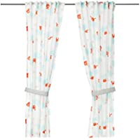 IKEA stjarnbild Curtains with Tie Backs 1ペア47 x 98ホワイト703.196.17