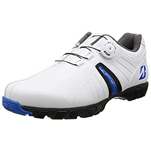 [ブリヂストンゴルフ] ゴルフシューズ、スパイクレス、ダイヤル式 SHG750WB60 ホワイト/ブルー 26 cm 3E