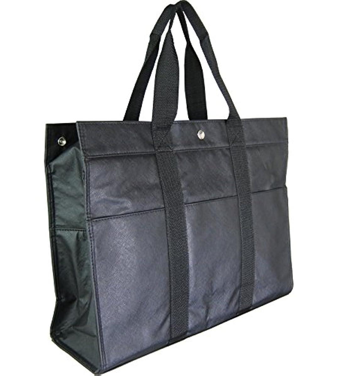 弱まる光沢中世の開明 トートバッグ 大容量 黒 HO1614