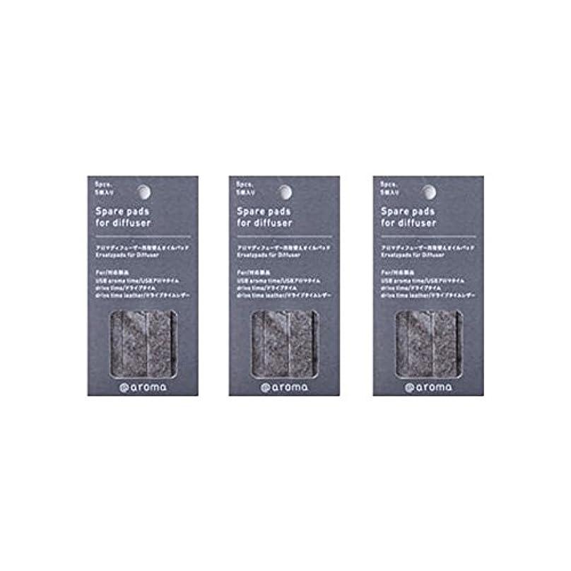 優しさハシー委員会アットアロマ 取替えオイルパッド 5枚入 (3個セット) (ドライブタイム/USBアロマタイム用)