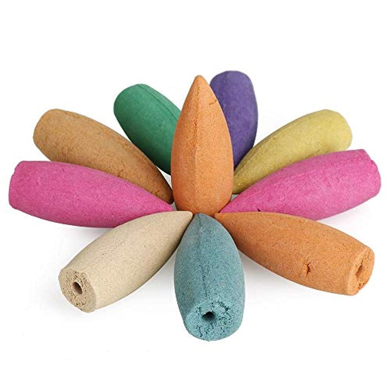 発表尊敬正気AGVTUO 10pcs / bag Reflux Incense Cones香り付き香コーンサンダルウッド香の滝