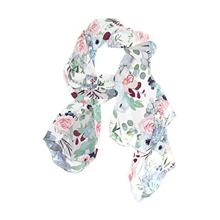 拡散する小学生壊滅的なVAWA スカーフ レディース 大判 お洒落 花柄 きれい 絵柄 シルク ストール 春夏 薄手 結婚式 パーティー用 冷房対策
