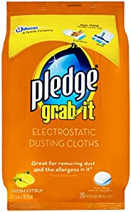 Pledge Grab-It Electrostatic Dusting Cloths, 20 count