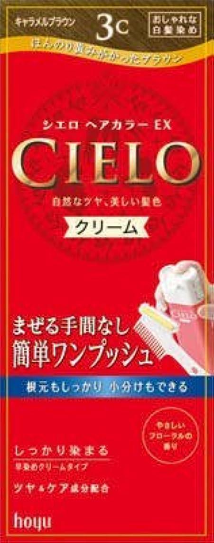 発疹混合退屈させるシエロ ヘアカラー EX クリーム 3C キャラメルブラウン × 3個セット
