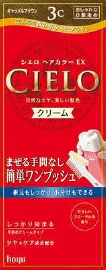 に慣れ階層麦芽シエロ ヘアカラー EX クリーム 3C キャラメルブラウン × 3個セット