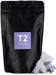 T2 Tea French Earl Grey Black Tea Bags in Foil Refill Bag, 60-Count