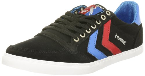 [ヒュンメル] hummel Slimmer Stadil Low Canvas HM63112 2640 (Black/Brilliant Blue/Ribbon Red/40)