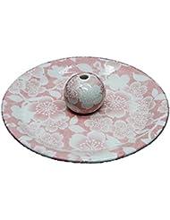 9-26 桜友禅 ピンク 9cm香皿 お香立て お香たて 陶器 日本製 製造?直売品