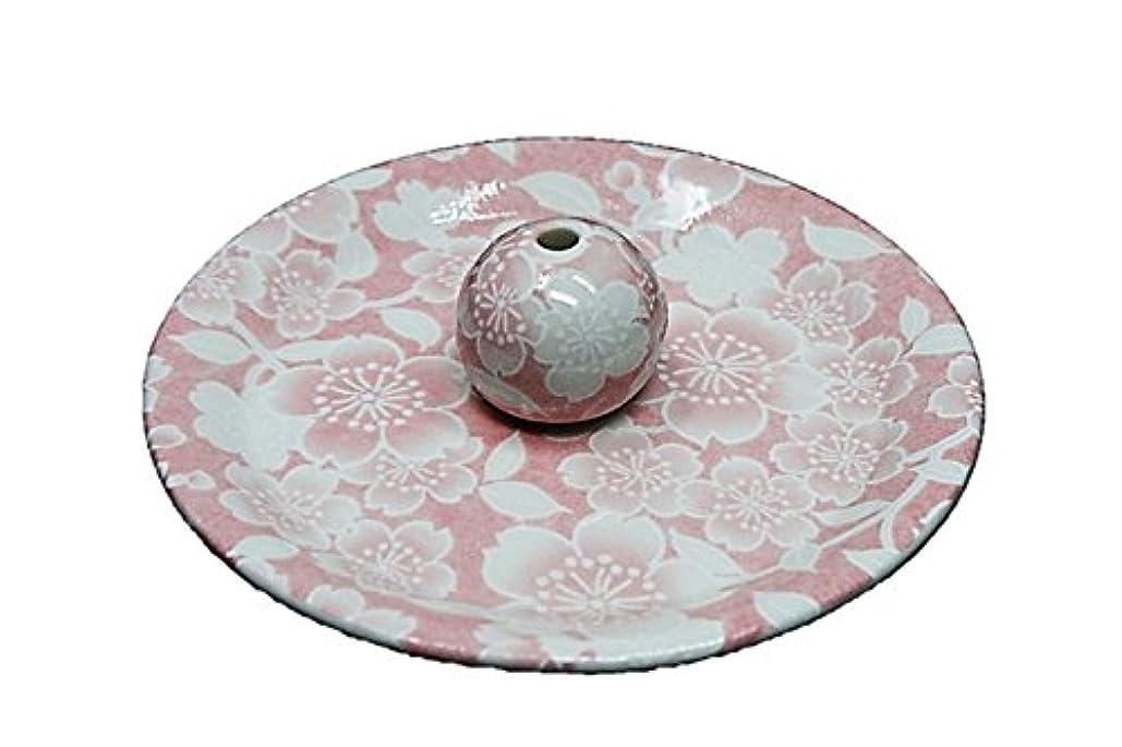 ではごきげんよう金銭的結果9-26 桜友禅 ピンク 9cm香皿 お香立て お香たて 陶器 日本製 製造?直売品