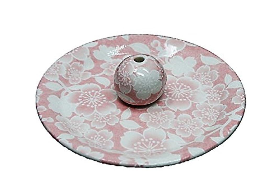 手紙を書く競うく9-26 桜友禅 ピンク 9cm香皿 お香立て お香たて 陶器 日本製 製造?直売品