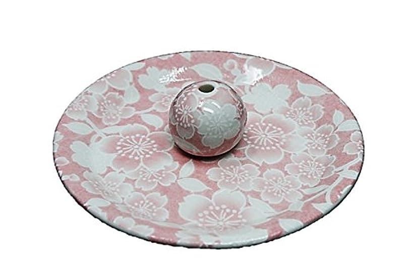クラフト道徳教育無法者9-26 桜友禅 ピンク 9cm香皿 お香立て お香たて 陶器 日本製 製造?直売品