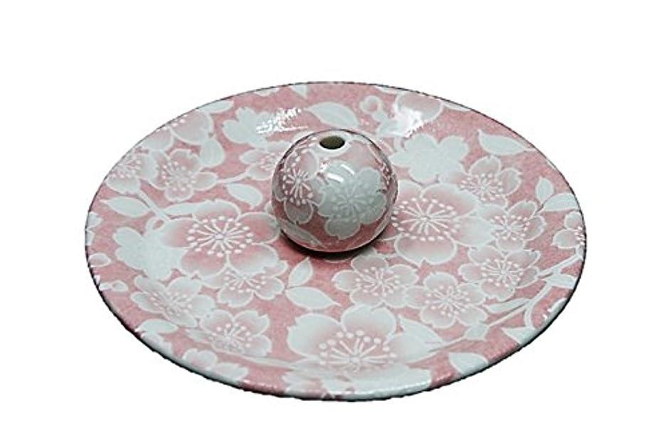 定期的彼のモールス信号9-26 桜友禅 ピンク 9cm香皿 お香立て お香たて 陶器 日本製 製造?直売品