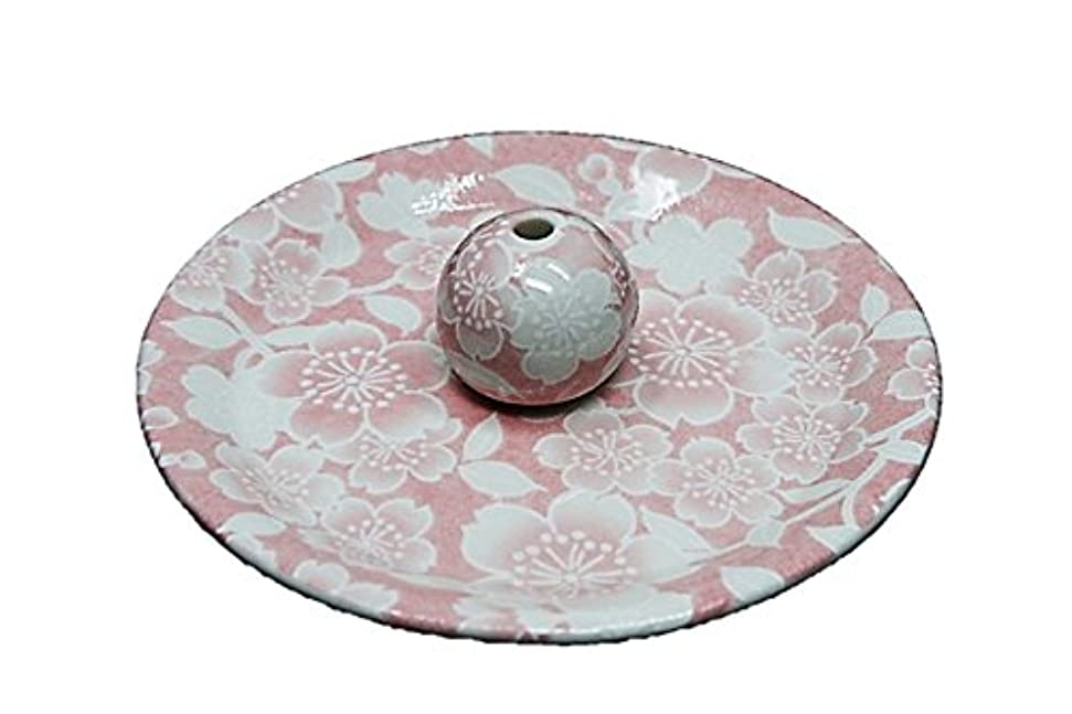 絵練習したお別れ9-26 桜友禅 ピンク 9cm香皿 お香立て お香たて 陶器 日本製 製造?直売品