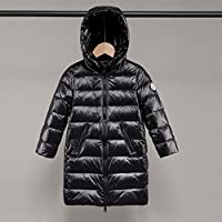 Children's Down Jacket Hooded Cocoon Design Warm Jacket Mid-Length Down Jacket Children's Clothing