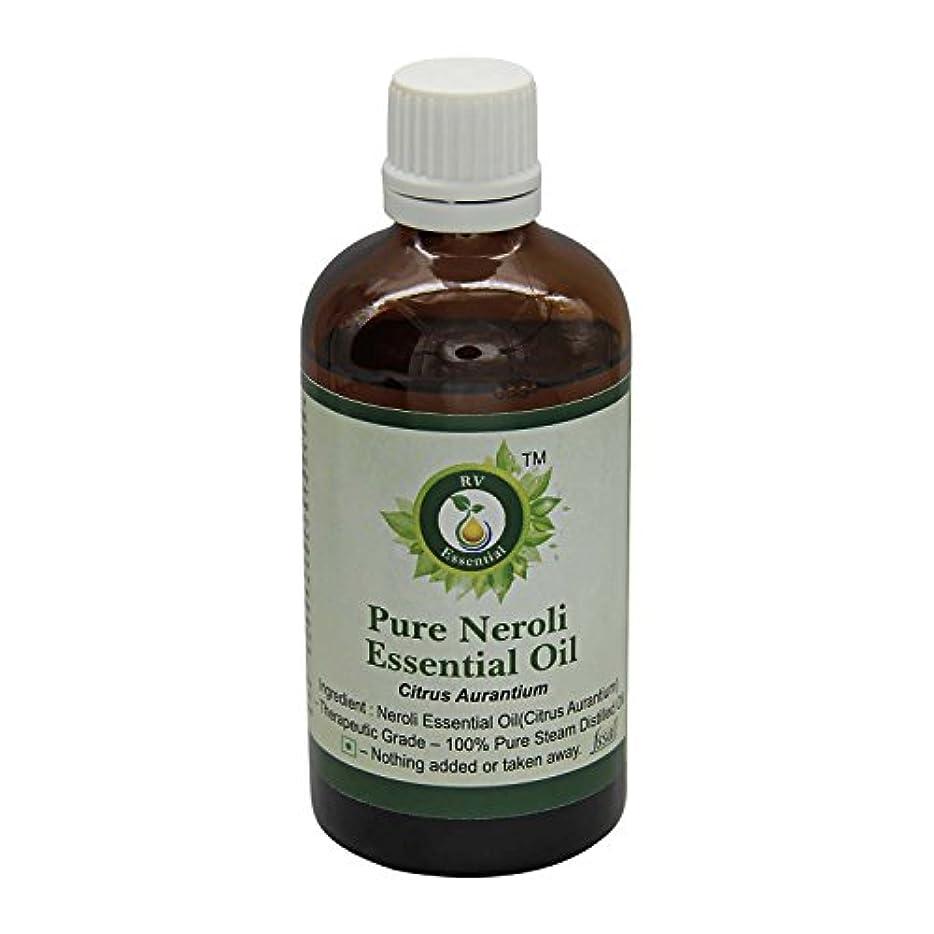 クリーク推測する昇るR V Essential ピュアネロリエッセンシャルオイル100ml (3.38oz)- Citrus Aurantium (100%純粋&天然スチームDistilled) Pure Neroli Essential...