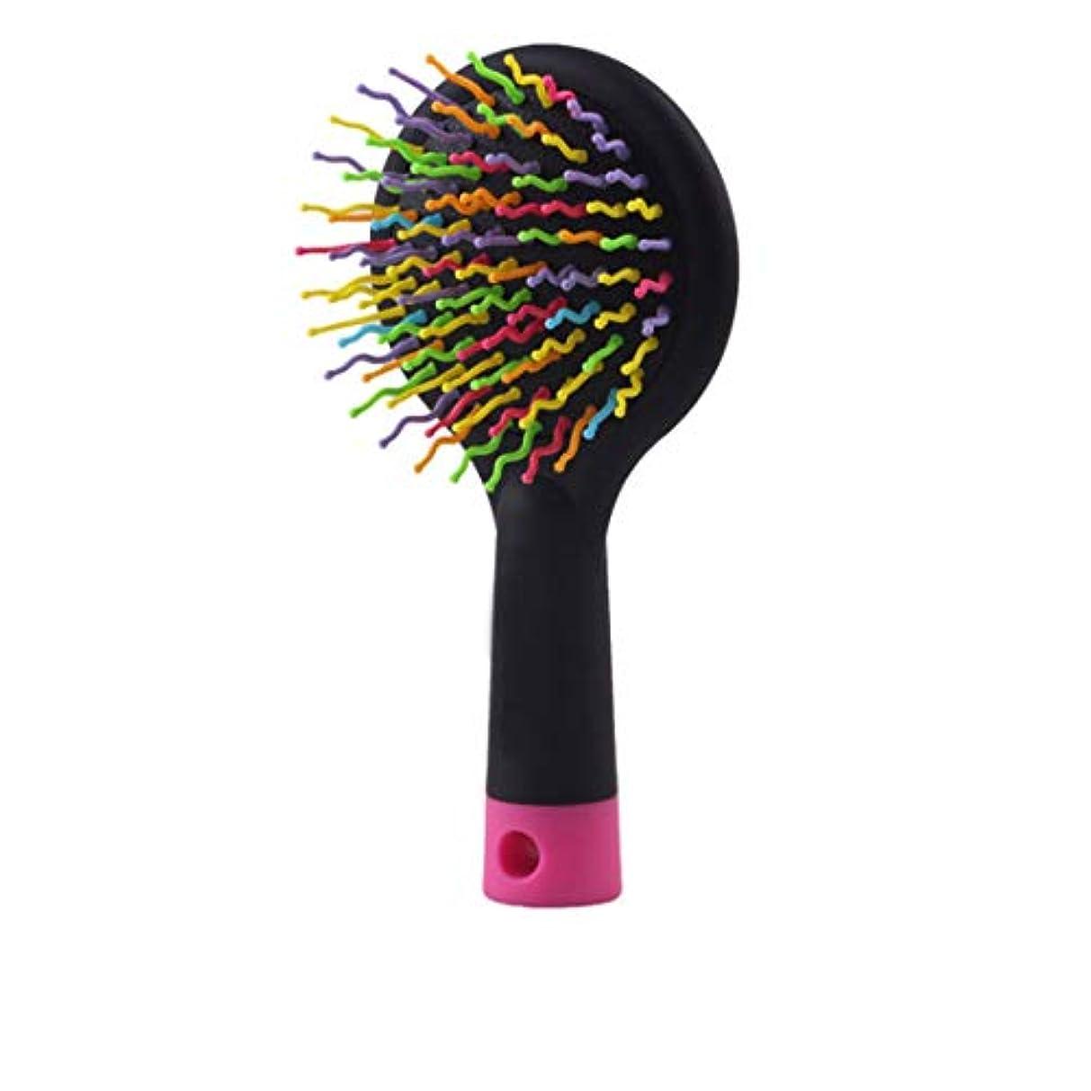 一貫性のないピジン落花生Guomao 2本のヘアブラシ、長い、太い、巻き毛、髪、髪の破損と縮れを減らす (色 : 黒)