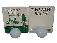 古いゴルファーへのギフトに最適 - ボール2個。