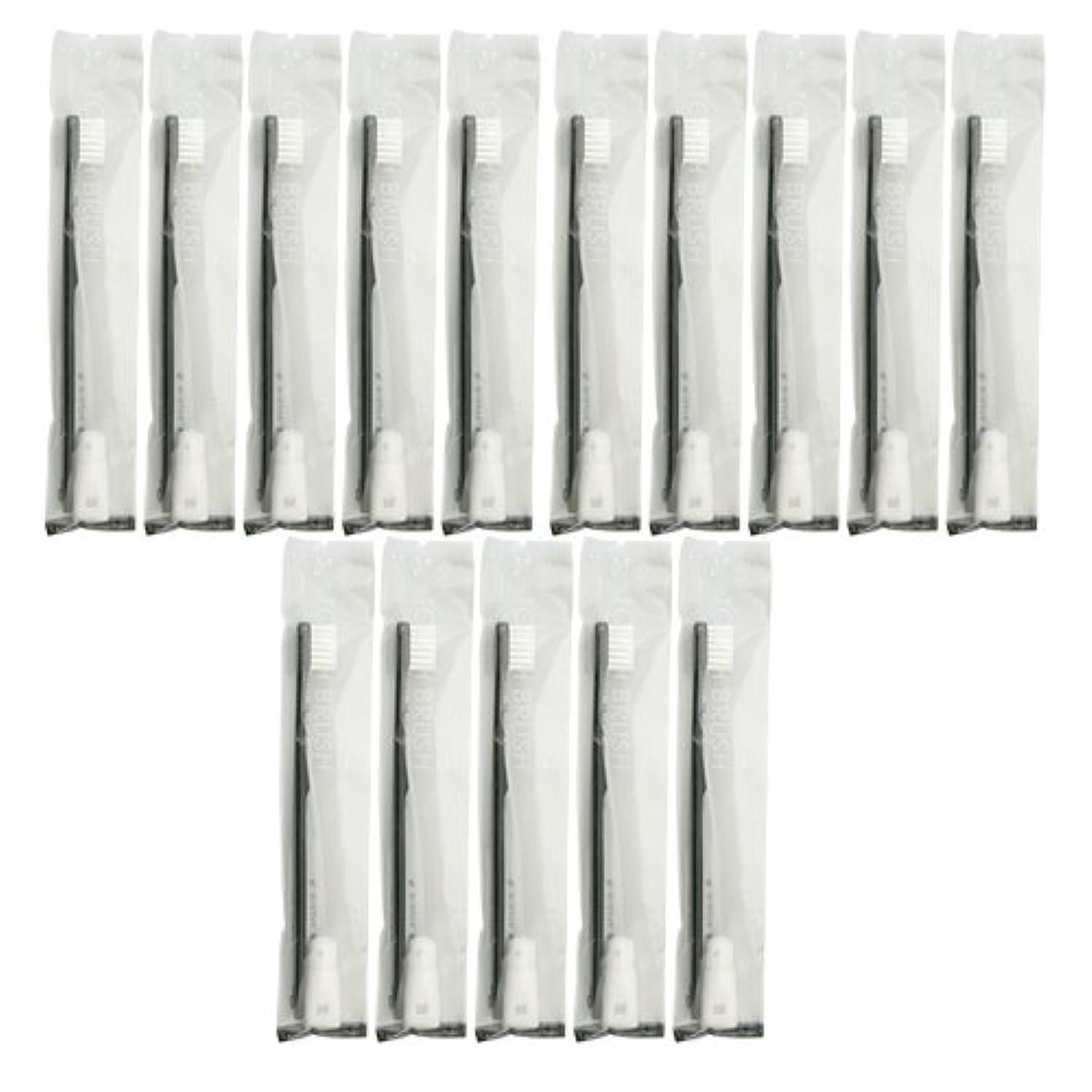 うそつきコンデンサーフットボール業務用 使い捨て歯ブラシ チューブ歯磨き粉(3g)付き ブラック 15本セット│ホテルアメニティ 個包装タイプ