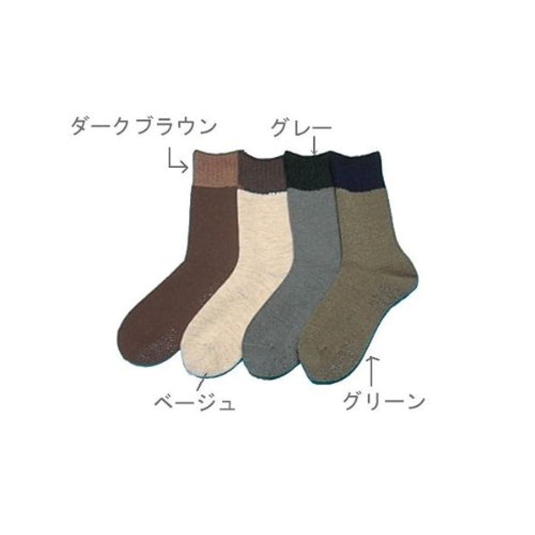 テンション旅行ウール紳士ソックス(毛混?ゆるゴム) グリーン 24~26 /7-1934-02