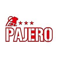 ミリタリー PAJERO パジェロ カッティング ステッカー レッド 赤