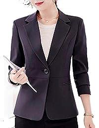 [イチイチキュウホンポ] レディ-ス ビジネス パンツ スーツ スカート スーツ セット アップ ジャケット 事務服 通勤 結婚式 入学式 卒業式 (黒 灰 薄灰 ワイン 白 黄 薄茶 水色 M~2XL)