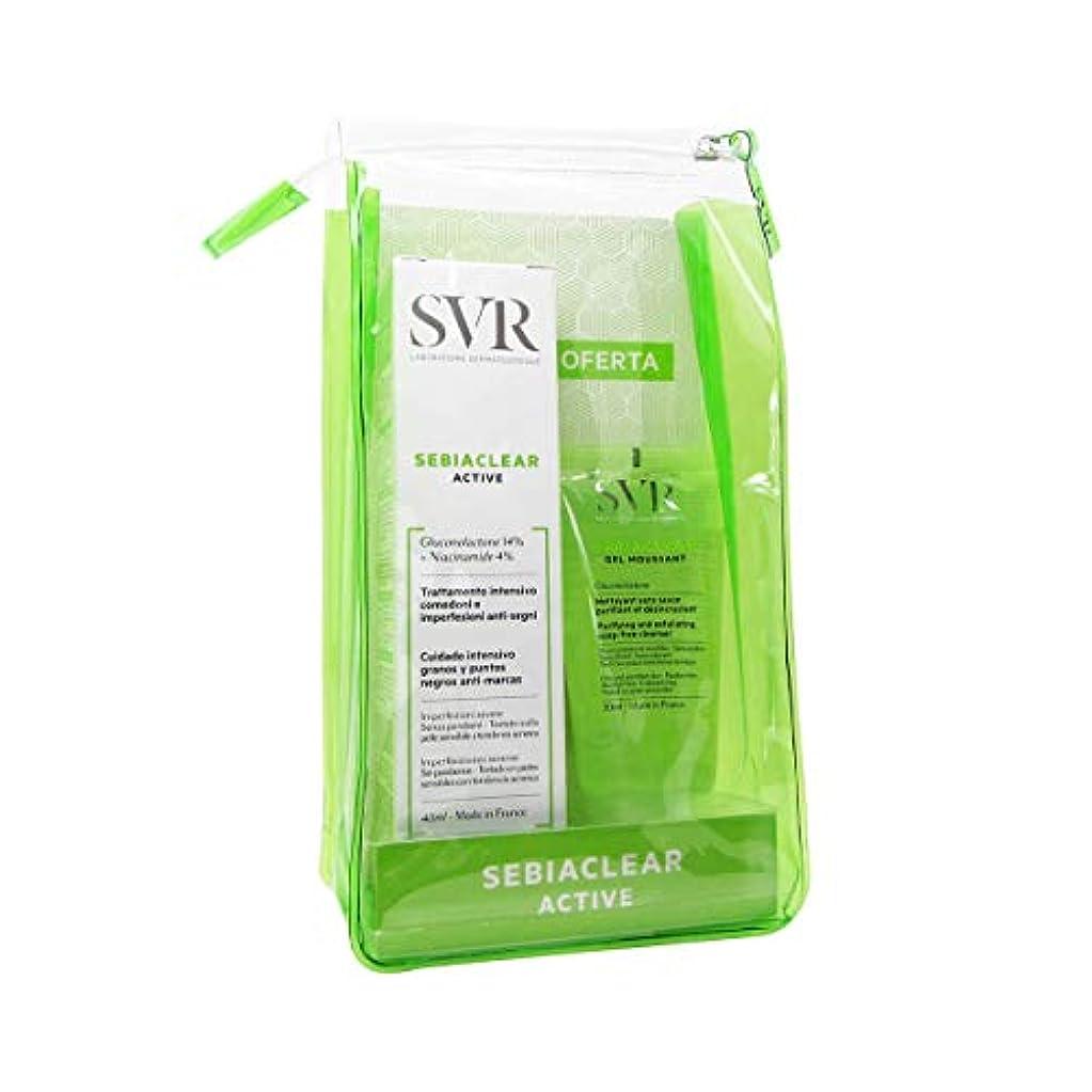 裕福なグレー現象SVR Sebiaclearアクティブパック40 ml供給フォーミングクレンジングジェル50 ml