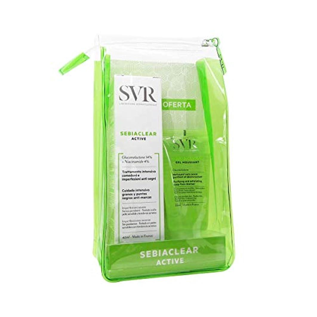 調整インド逃れるSVR Sebiaclearアクティブパック40 ml供給フォーミングクレンジングジェル50 ml