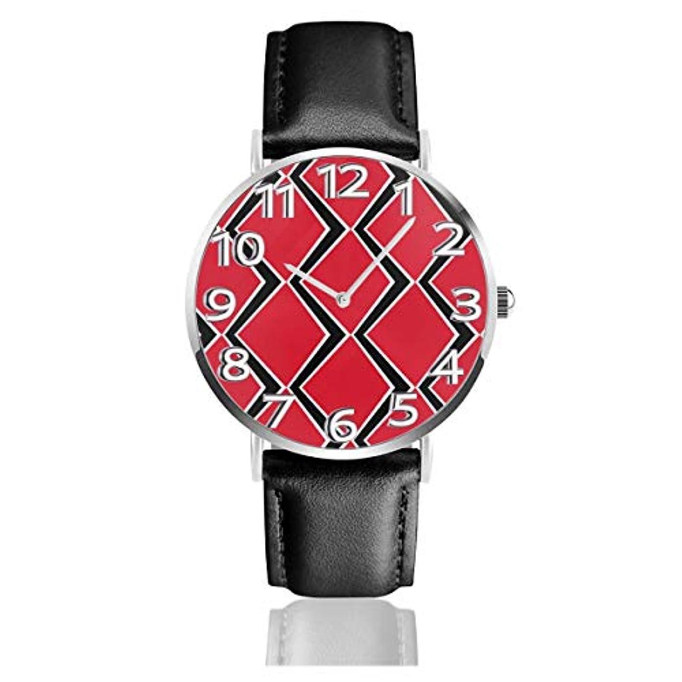 あたたかい深遠マークされたトリニダードトバゴフラグの組み合わせベルトウォッチ 腕時計 おしゃれ 女性 レザーベルト ウォッチ クォーツ 時計 男女兼用