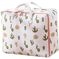 2PCSオックスフォード布の貯蔵袋サボテンのパターン高品質の旅行の主催キルトの服移動仕上げ荷物の保管袋2個/セット (サイズ さいず : 60 * 40 * 22cm)