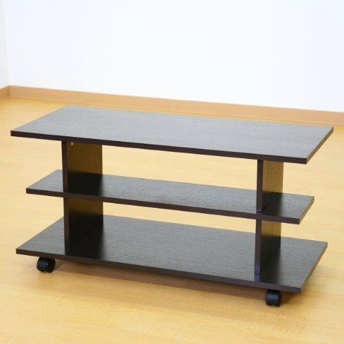 (DORIS) テレビボード ハイタイプ 【ラッセル ブラウン】 横幅:80cm幅 TVボード キャスター付き 組み立て式