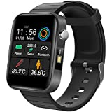GAMERKING Fitness Tracker with Body Temperature Thermometer Heart Rate Monitor,Blood Pressure Monitor, Waterproof IP67 Activi